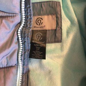 Girls Heavy Coats Silver/Aqua - L & XL